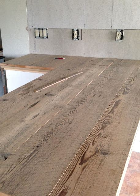diy custom wood countertops diy reclaimed wood countertop averie diy reclaimed wood countertop