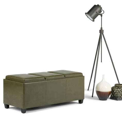 green storage bench simpli home avalon olive green storage bench 3axcava