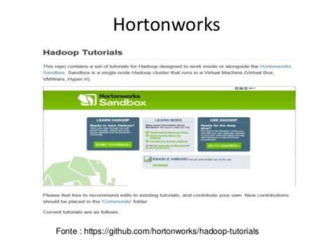 hortonworks tutorial github explorando os principais implementadores hadoop e o papel