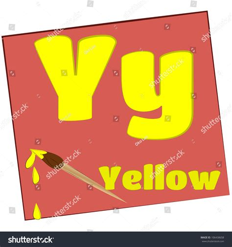5 Letter Words Yellow y yellow colorful alphabet letters with words starting