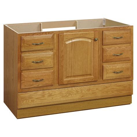 bathroom vanities lowes shop project source 48 quot oak elegance traditional bath