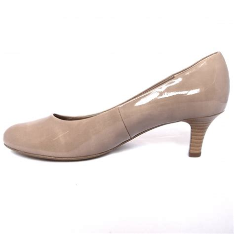 beige shoes gabor shoes vesta kitten heel court shoe in beige