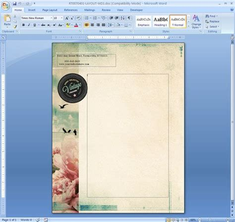 how to make valentines day stationery paper with microsoft word