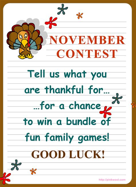 November Contest by November Contest Ideas For