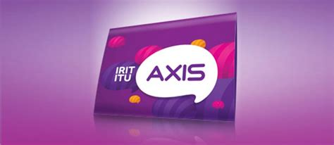Perdana Axis Irit saatnya irit dengan kartu perdana axis sepulsa