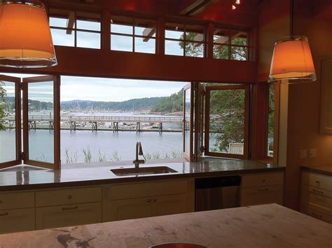 glass door windows on kitchens open wider with large format windows doors remodeling