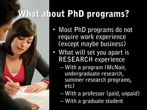 Do Mba Programs Require Work Experience by Myths On Graduate School