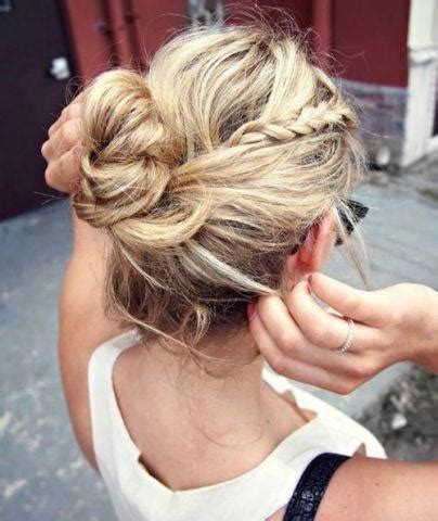 Braided Bun Hairstyle Pinterest   Women Hairstyles