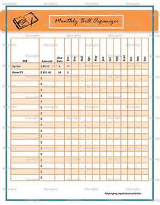 monthly bill organizer tracker printable pdf by tidymighty