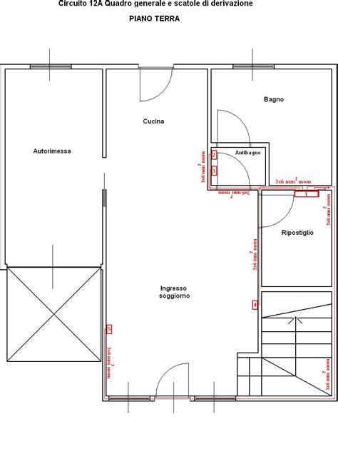 impianto elettrico controsoffitto circuito 12a quadro generale e scatole di derivazione
