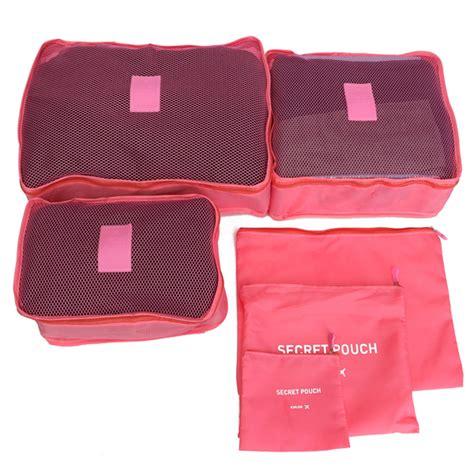 Traveling Bag Organizer 6pcs 6pcs waterproof travel storage bags packing cube clothes
