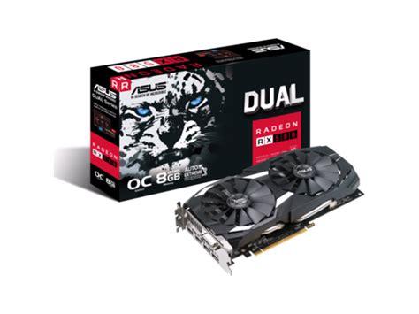 Vga Rx 580 8gb asus rx 580 dual rx580 o8g rx 580 8gb gddr5 oc 256bit dp hdmi dvi vr ready gaming card