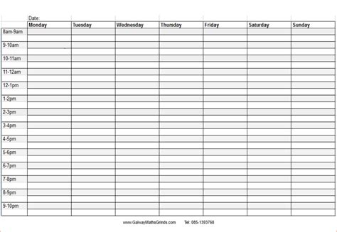 blank daily schedule template blank daily schedule calendar template 2016