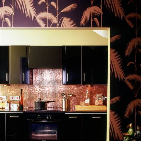 kitchen wallpaper ideas uk black and bronze kitchen wallpaper kitchen wallpaper