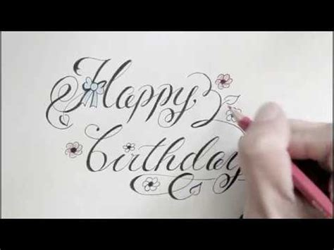 Happy Writing how to write cursive fancy letters happy birthday for