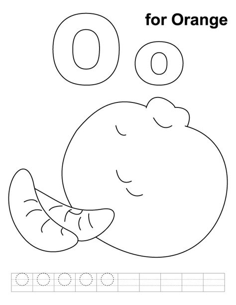 o coloring pages preschool o for orange coloring page with handwriting practice