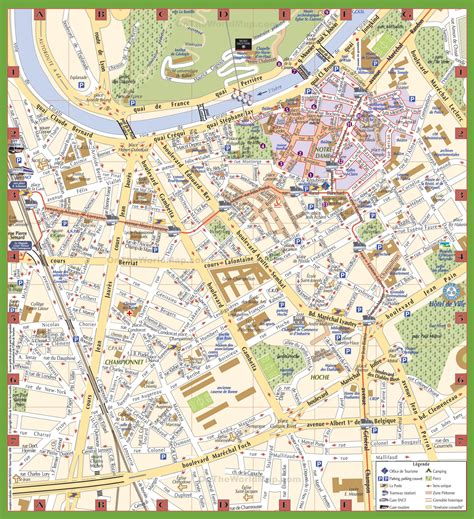 map of grenoble grenoble tourist map