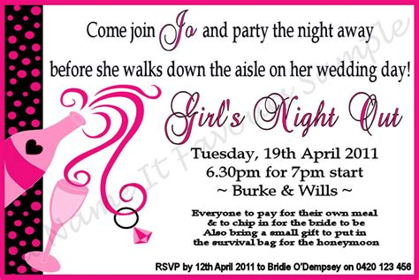 hen party invitations template best template collection