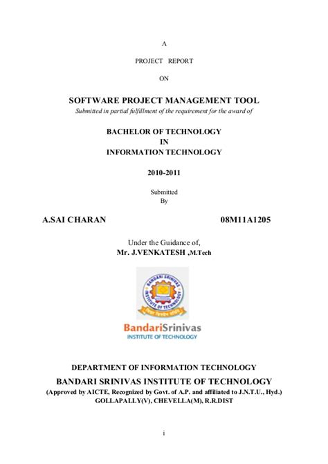 Mba Project Report On Emotional Intelligence by Software Project Management Tool Project Report