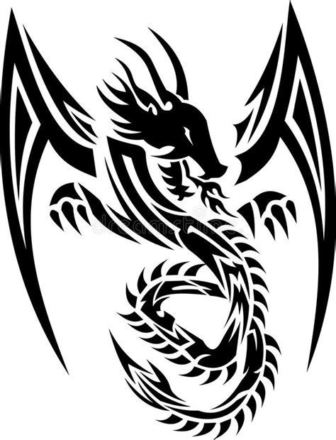 tribal tattoo dragon vector illustration tribal dragon 01 stock vector illustration of stock