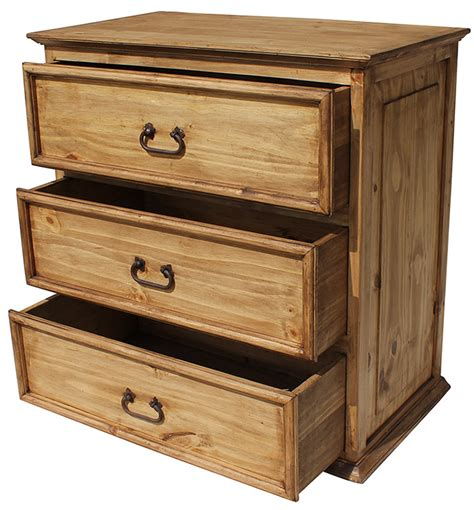Wormwood Furniture by Rustic Pine Collection Three Drawer Dresserwithout