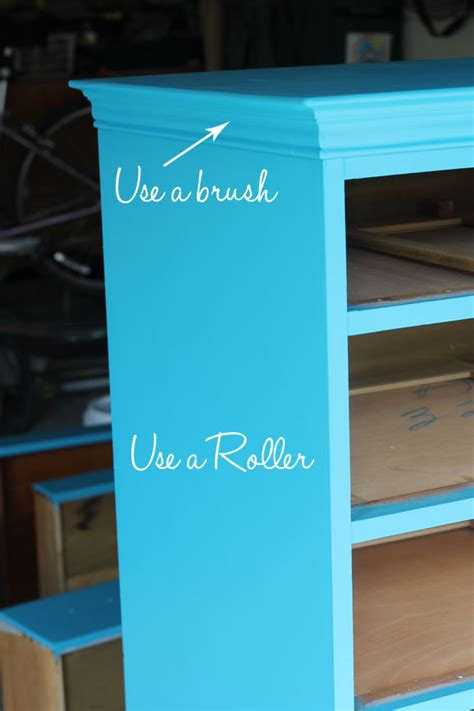 spray paint vs roller do you use a brush or roller to paint furniture home