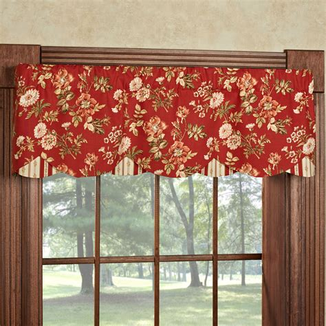 Window Valance Farrell Floral Layered Window Valance