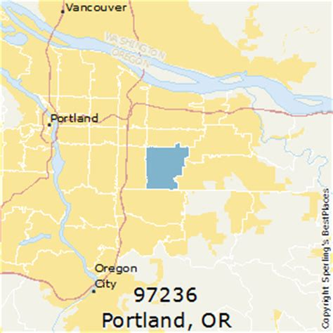 printable zip code map portland oregon best places to live in portland zip 97236 oregon