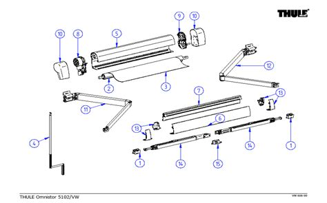 awning spare parts thule omnistor 5102 awning spare parts for vw t5 t6