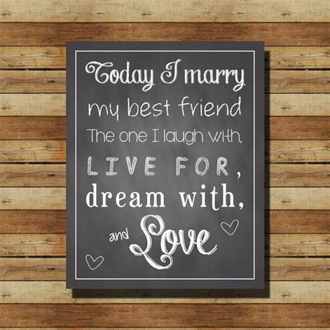 "INSTANT DOWNLOAD // Chalkboard Wedding Sign: ""Today I"