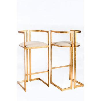 Gold And White Stool by Terra Bamboo Swivel Counter Height Bar Stool In White