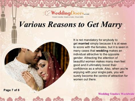 8 Reasons To Say Yes To That Marriage by Various Reasons To Get