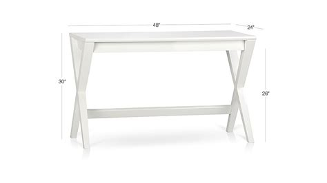 Crate And Barrel Writing Desk by Spotlight White 48 Quot Writing Desk Crate And Barrel