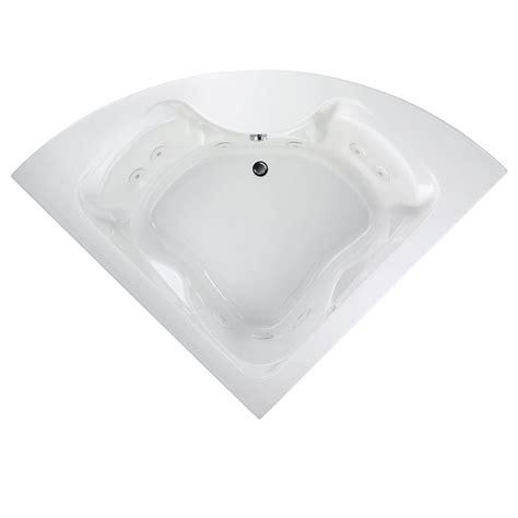 4ft bathtubs kohler proflex 4 5 ft center drain drop in corner bathtub in almond k 1155 47 the