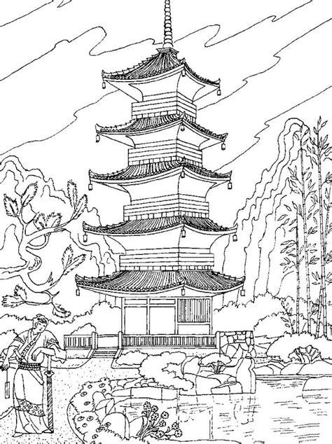 japanese castle coloring page раскраски антистресс скачать кит лиса слон волк