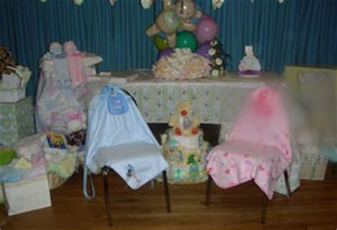 Decorating Ideas For Baby Shower Chair by Baby Shower Decorating Ideas Thriftyfun