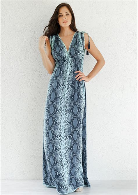 Maxi Helena beth and tracie helena maxi dress snake fawn