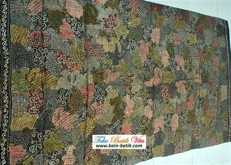 Pancawarna Cerah batik sutera sekar jagad cerah 13130029 kain batik murah