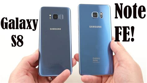 Samsung Galaxy Note Fe Blue galaxy note fe coral blue unboxing designed better than