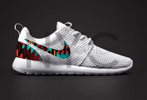 tribal pattern roshe runs shoes white aztec tribal pattern nike roshe run nike