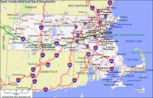 Massachusetts Road Map by Massachusetts Map