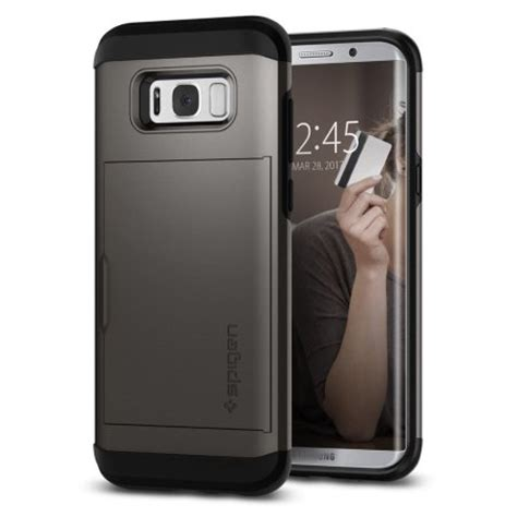 Spigen Iron Armor Samsung Galaxy S8 spigen slim armor cs samsung galaxy s8 plus gunmetal