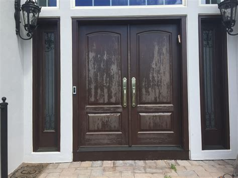 Exterior Door Refinishing Refinishing Exterior Wood Doors