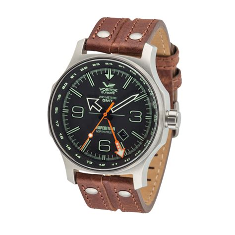 Expedition E6626m Time Leather Blrg vostok europe gents dual time expedition n1 with leather 387605 ideal world