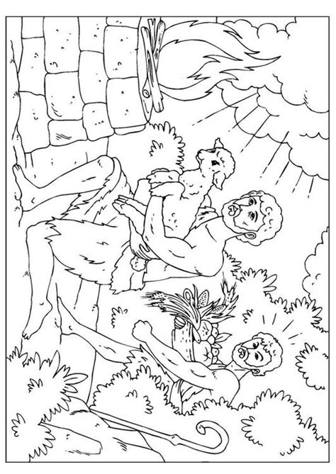 adam and eve cain and abel coloring page cain and abel coloring worksheet coloring pages
