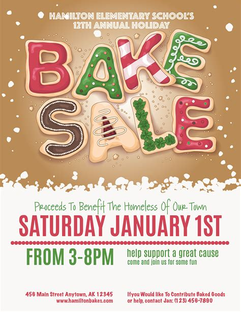 christmas bake sale invitations