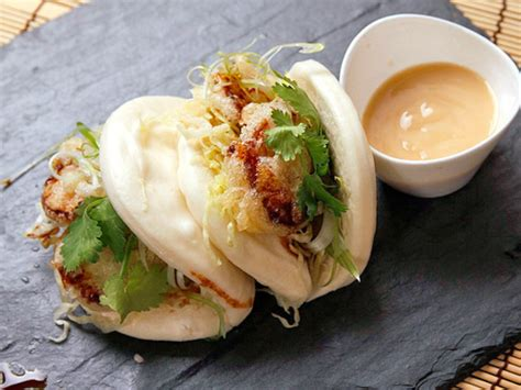 how to steam buns steamed buns with tempura king oyster mushrooms and agave miso mayonnaise vegan