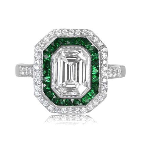 Emerald Cut by 1 72 Carat Emerald Cut Ring Estate Jewelry