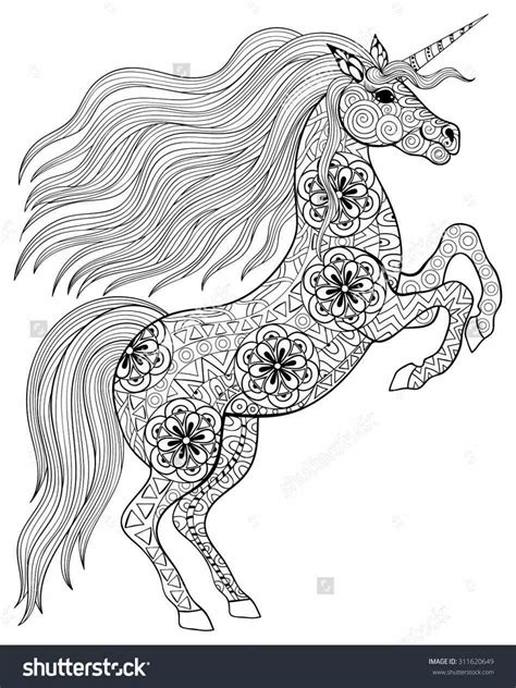 detailed unicorn coloring page and in color free free detailed unicorn coloring pages