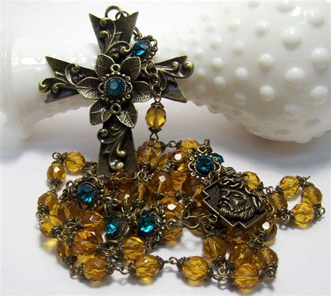 Handcrafted Rosaries - jewelry cross rosary handcrafted